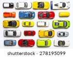 Overhead View On Colorful Car...