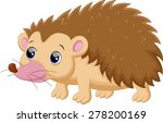 cute porcupine cartoon | Shutterstock .eps vector #278200169