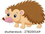 cute porcupine cartoon | Shutterstock .eps vector #278200169