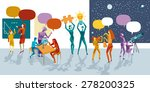 teachers and students at school ... | Shutterstock .eps vector #278200325