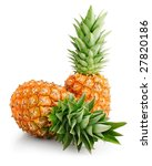 Fresh Pineapple Fruits With...