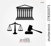 justice court building image... | Shutterstock .eps vector #278202071