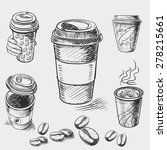 hand drawn doodle sketch... | Shutterstock .eps vector #278215661