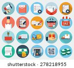 ecommerce and logistics icon set | Shutterstock .eps vector #278218955