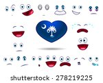 heart flag of state south... | Shutterstock .eps vector #278219225
