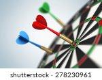 darts arrow in bull's eye | Shutterstock . vector #278230961