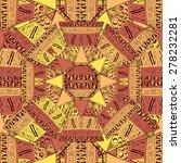 aztec style tile pattern design.... | Shutterstock .eps vector #278232281