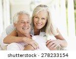 portrait of romantic senior... | Shutterstock . vector #278233154