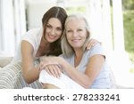 mature mother and daughter...   Shutterstock . vector #278233241