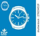 vector graphic pocket watch... | Shutterstock .eps vector #278234519