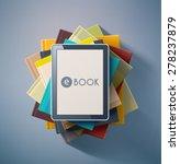 e book  stack of books  eps 10 | Shutterstock .eps vector #278237879