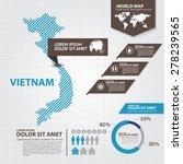 vietnam map infographic | Shutterstock .eps vector #278239565