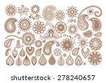 henna tattoo doodle vector...