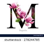 letter m vector alphabet with... | Shutterstock .eps vector #278244785