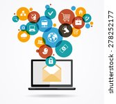 the concept of electronic mail. ... | Shutterstock .eps vector #278252177