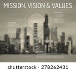 corporate mission vision and... | Shutterstock .eps vector #278262431