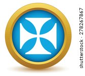 gold religion cross icon on a... | Shutterstock . vector #278267867