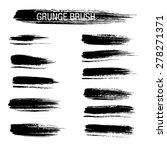 vector set of grunge brush... | Shutterstock .eps vector #278271371