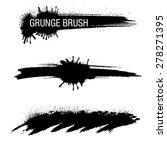 vector set of grunge brush...   Shutterstock .eps vector #278271395