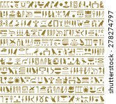 ancient egyptian hieroglyphs... | Shutterstock .eps vector #278274797