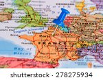 map of france with a blue... | Shutterstock . vector #278275934