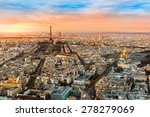 Wide Angle View Of Paris At...