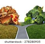 Diet Dilemma Decision Concept...