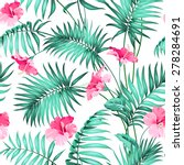 Seamless Pattern. Tropical...