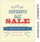 father's day sale .... | Shutterstock .eps vector #278286674