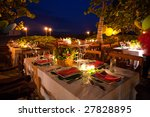 place settings on a dinner... | Shutterstock . vector #27828895