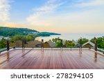 outdoor balcony deck   vintage... | Shutterstock . vector #278294105