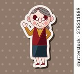 family grandmother character... | Shutterstock .eps vector #278311889