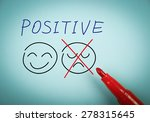 positive thinking concept is on ... | Shutterstock . vector #278315645