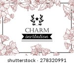 charm collection. vintage... | Shutterstock .eps vector #278320991