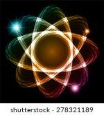 blue orange pink shining atom...   Shutterstock .eps vector #278321189