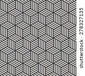 stripe cube pattern | Shutterstock .eps vector #278327135