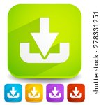 download button or icon with...