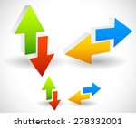 arrow icons pointing up  down ...   Shutterstock .eps vector #278332001