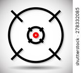 crosshair  firearm's reticle... | Shutterstock .eps vector #278332085