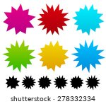 colorful blank spiky  pointed... | Shutterstock .eps vector #278332334