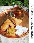 oriental tea eastern sweets   Shutterstock . vector #278334377