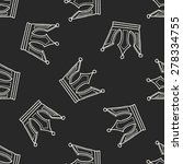 crown doodle seamless pattern... | Shutterstock . vector #278334755