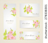 invitation card with floral... | Shutterstock .eps vector #278338301
