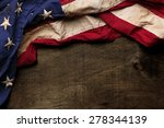 Stock photo old american flag background for memorial day or th of july 278344139
