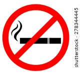 prohibiting smoking sign for... | Shutterstock .eps vector #278344445
