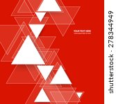 overlapping triangles red... | Shutterstock .eps vector #278344949