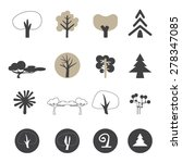 tree icons set vector | Shutterstock .eps vector #278347085