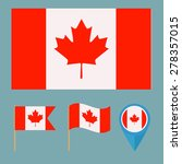 canada  icons for design with... | Shutterstock .eps vector #278357015
