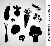 vegetable icons set great for... | Shutterstock .eps vector #278358875