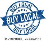 buy local grunge retro blue...   Shutterstock .eps vector #278363447